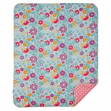 POPPY SEED Floral Quilted Comforter Crib Quilt Reversible Lolli Living Pink Blue