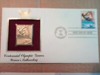Gold Stamp Replica Centennial Olympic Games Women's Sale Boarding 32 Cent Stamp.