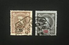 Portugal 2 x King Carlos 15r & 500r Stamp c1895, Used, A154