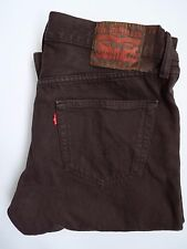 86993c4c5c0 LEVIS 501 JEANS MENS STRAIGHT LEG HIGH WAISTED W31 L30 BROWN STRAUSS  LEVH600 #