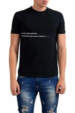 Gianfranco Ferre Black GraphicShort Sleeve Stretch Men's T-Shirt Sz XS S L