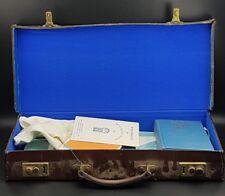 Vintage Masonic Craft Master Masons Leather Case With Apron, Gloves & Ephemera