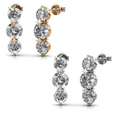 2pr Long Journey Drop Earrings Set Ft. Crystals From Swarovski KCTS529ES
