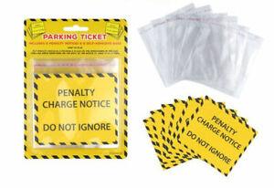 6 Fake Parking Tickets - Penalty Charge Notice Fine Prank Novelty Joke Laugh