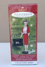 2001 Hallmark Keepsake Barbie in Busy Gal Fashion 2 Pc Ornament 8th Series NIB