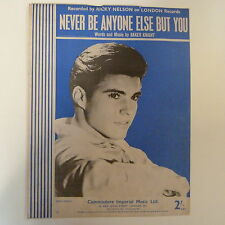 songsheet NEVER BE ANYONE ELSE BUT YOU , Ricky Nelson 1958