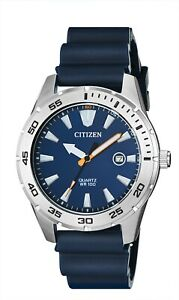 Citizen Men's Quartz Blue Polyurethane Band Date Indicator 42mm Watch BI1041-22L