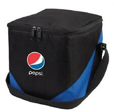 PEPSI  Keep COLD Cooler Bag - Black/Blue - Adjustabe Shoulder Strap - 8x8x8 *NEW