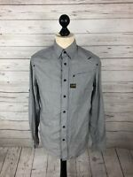 G-STAR RAW Shirt - Size Medium - Grey - Great Condition - Men's