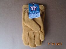 Winter Lined Deerskin Leather Gloves Size Small Made In the USA 1 pair