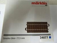 Märklin H0 1 x  24077 C-Gleis gerade 77,5 mm Neuware