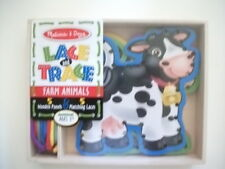 Melissa And Doug Lace And Trace Farm Animals Educational Activity Toy NEW *