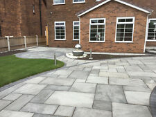 Grey Indian Sandstone Paving Patio Slabs. 18mm. 20m2 patio pack  £25.95/m