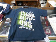 Seattle Seahawks blue Russell Wilson Super Bowl T-shirt size medium #21419