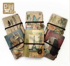 Mini Vintage String Notebook Kraft Diary Retro Sketchbook PU Leather Organiser