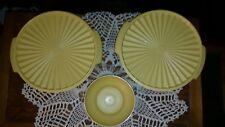 Vintage Tupperware Gold 7 Salad Bowls 2 Large Serving Bowl Set