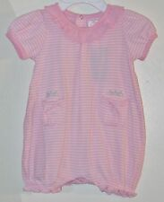 CHAPS Size 3 Months Pink Striped Short Sleeves Snap Crotch Bodysuit