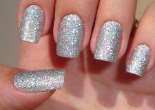 SB Silver Holographic MERMAID EFFECT Nail Art Glitter GEL & ACRYLIC 5g