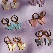 Fashion Butterfly Acrylic Insect Earrings Boho Dangle Drop Wedding Party Women