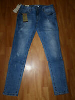 Nina Carter Damen Push Up Jeans Stretch Gr M Jeggings Blau Used Skinny Röhre