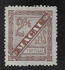 MACAU;  1893  Newspaper issue  Mint Unused 2.5r. (BX)