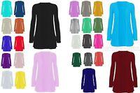 Women Ladies New Open Long Sleeve Boyfriend Pocket Cardigan Top Dress UK 8- 26