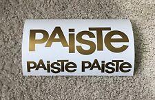 3 x Paiste Drum Logo Decal/Sticker in GOLD ...NEW
