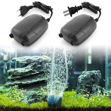 Aquarium Air Pump Twin Outlet Valve For Fish Tank 3.5L/min 5W US/EU Plug Silent