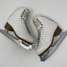 Jackson Heavy Leather Youth 2B Figure Ice Skates Ultima Mark IV 8 1/3 Blades