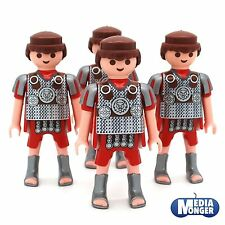 playmobil Romano Figura di base: 4x Legionario Centurio con argento Stivali