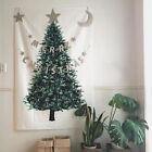 Christmas Tree Pine Tarpaulin Tapestry Vintage Art Wall Hanging Bedroom Deco_hg