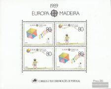 Madeira (Portugal) Bloque 10 (edición completa) nuevo 1989 juegos infantiles