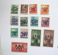 Lot of (13) Italian STAMPs Mint Never Hinged very fine AMG F.T.T.  Scott#'s 1-14