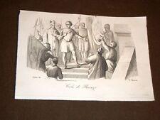 Incisione rame del 1847 Cola di Rienzo Nicola di Lorenzo Gabrini Cola de Rienzi