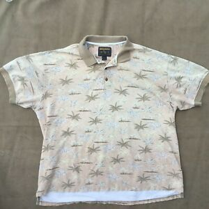 Woolrich Vintage Perfectly Distressed Palm Tree Polo Shirt Men's Size-2XL