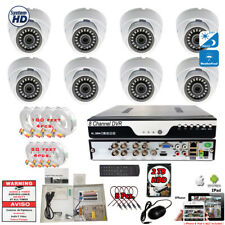 8 Ch Dvr 8x 1080p Day Night Vision Outdoor Home Cctv Security Camera System +2Tb