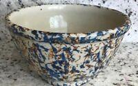Vintage Paneled Stoneware Bowl/Crock  No. 6, 9-1/2 In. Diameter Sponge-ware