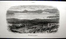 Salamina. saronischer golf. Grecia. Ellada: ORIG. madera 1885 clave