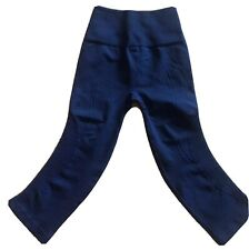 LULULEMON Flow & Go Crop Pants size 2 Navy Blue EUC Run Gym Yoga Dance