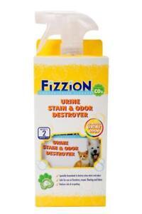 Fizzion URINE DESTROYER Pet Stain Odor Remover Dog Cat Urine 2 Tab & 23oz Bottle