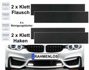 2x Kennzeichenhalter Klett Rahmenlos Nummernschildhalter /// Für KFZ Kennzeichen