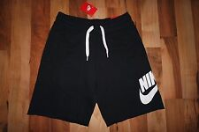 NWT NIKE AW77 FRENCH TERRY ALUMNI SHORT BLACK 678568 010 BASKETBALL SZ L, XL