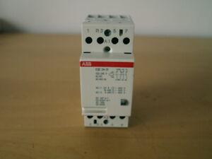 ABB ESB24-31 24A CONTACTOR 230V AC/DC COIL VOLTAGE  3xN/O + 1xN/C MAIN CONTACTS