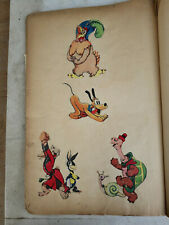 1930's Disney Scrap Book Hand Drawings, Tracings and Cut Out, all pre 1939