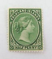 .FALKLAND ISLANDS 1878 QV 1/2d MH WELL CENTRED, GOOD COLOUR, NICE GRADE.