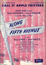 """Willie Howard """"ALONG FIFTH AVENUE"""" Nancy Walker 1948 Tryout Sheet Music"""