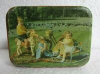 Vintage Old Collectible James Lord & Sons.Ad. Beautiful Kids Print Litho Tin Box