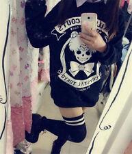 Anime sailor moon Kawaii printing black cosplay sweater cute girls dress up