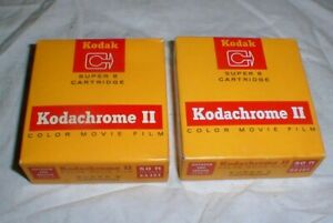 2 Sealed Kodak Kodachrome II Color Movie Film Super 8 Cartridge Expired-72 50-ft