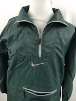 VTG Nike Air Mens M Hunter Green 1/4 Zip Jacket Windbreaker Spell Out L Swoosh